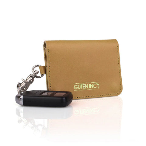 Colton Leather Card Holder Tan - GUTENINC ID