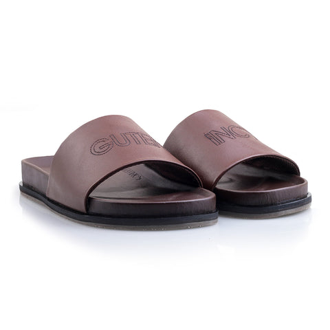 Fergie Slide Sandal Brown