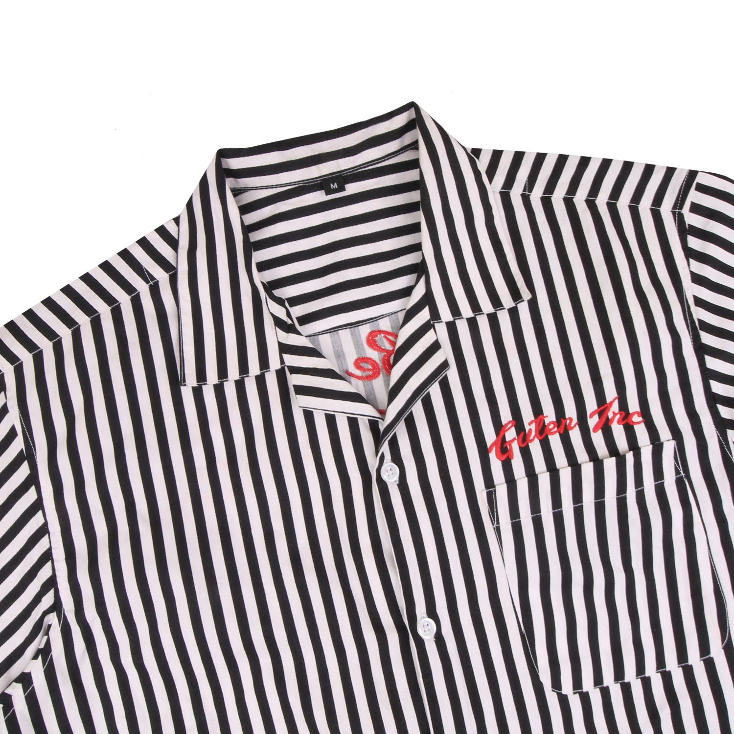 Devin Camp Collar Black Stripes Shirt