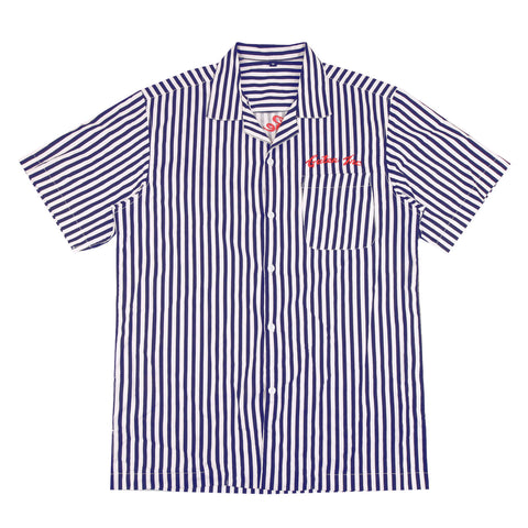 Devin Camp Colar Navy Stripes Shirt