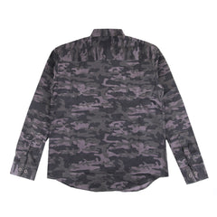 Dominic Corduroy Camo Gray Shirt