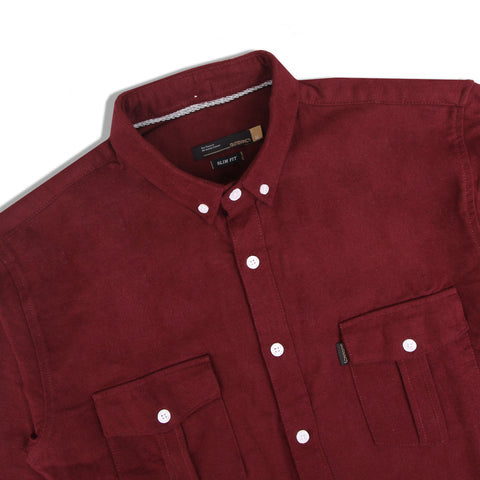 Fleagan Two Pocket Maroon Shirt