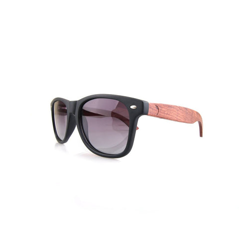Fletcher Black Wooden Sunglasses - GUTENINC ID