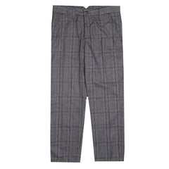 Jerome Checked Grey Ankle Pants