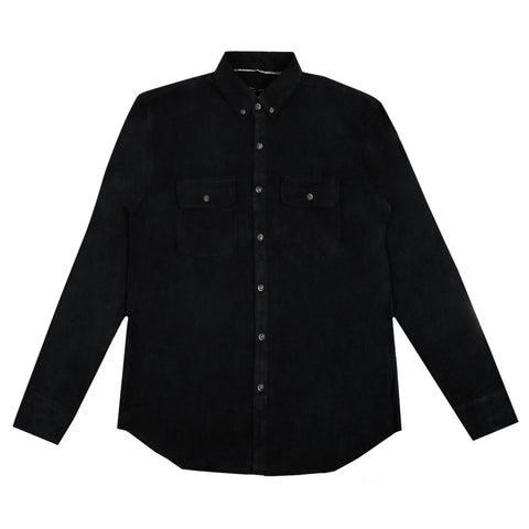 Muller Corduroy Black Teal Shirt