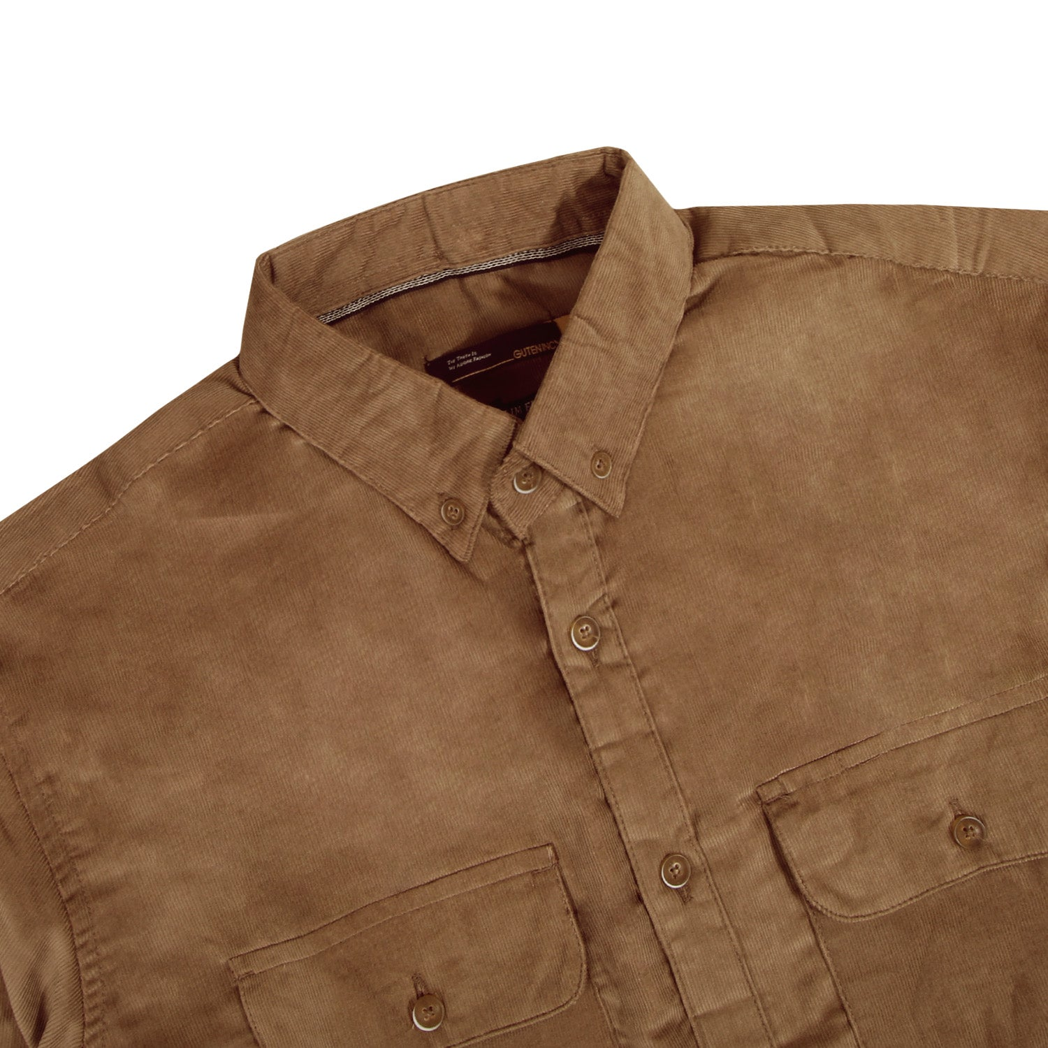 Muller Corduroy Sienna Brown Shirt