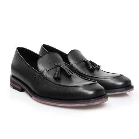 Vergo Tassel Loafer Black