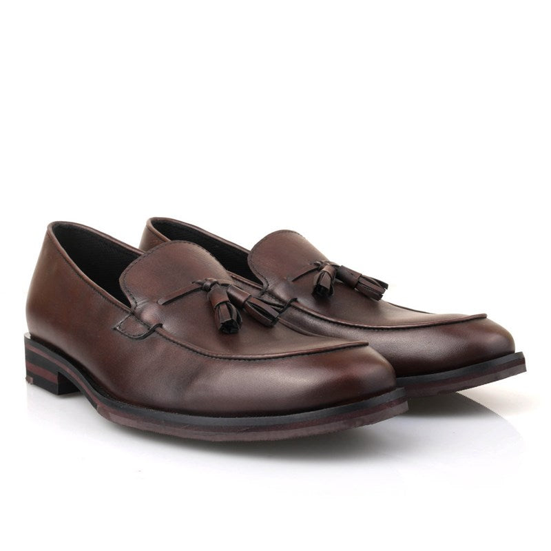 Vergo Tassel Loafer Dark Brown