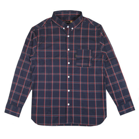 Verne Flannel Navy Red Shirt