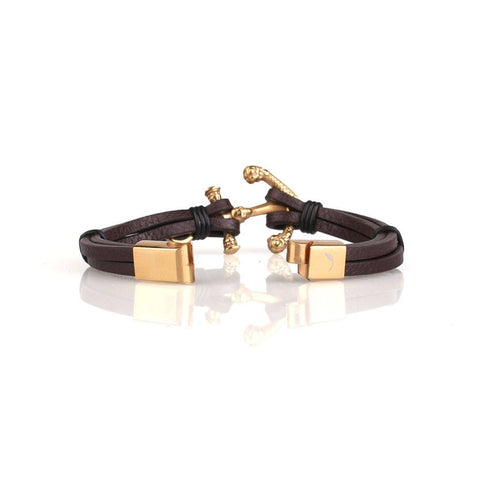 Wich Gold Anchor Bracelet