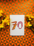 Cat Number Birthday Card 70