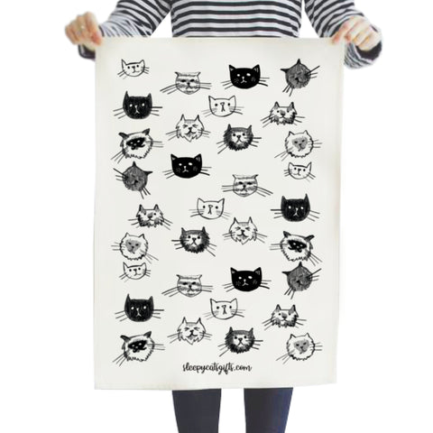 Cat Gang Tea Towel