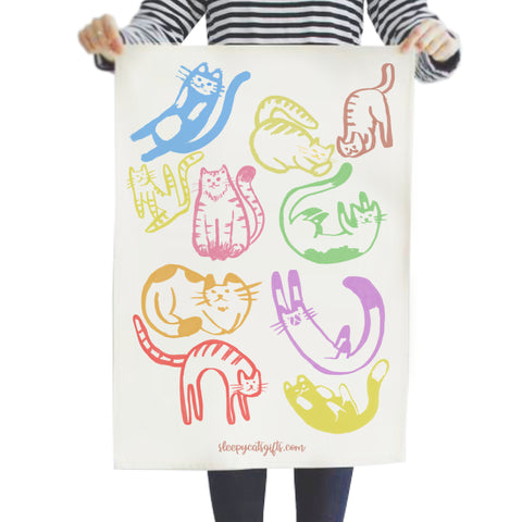 Cheeky Cats Tea Towel
