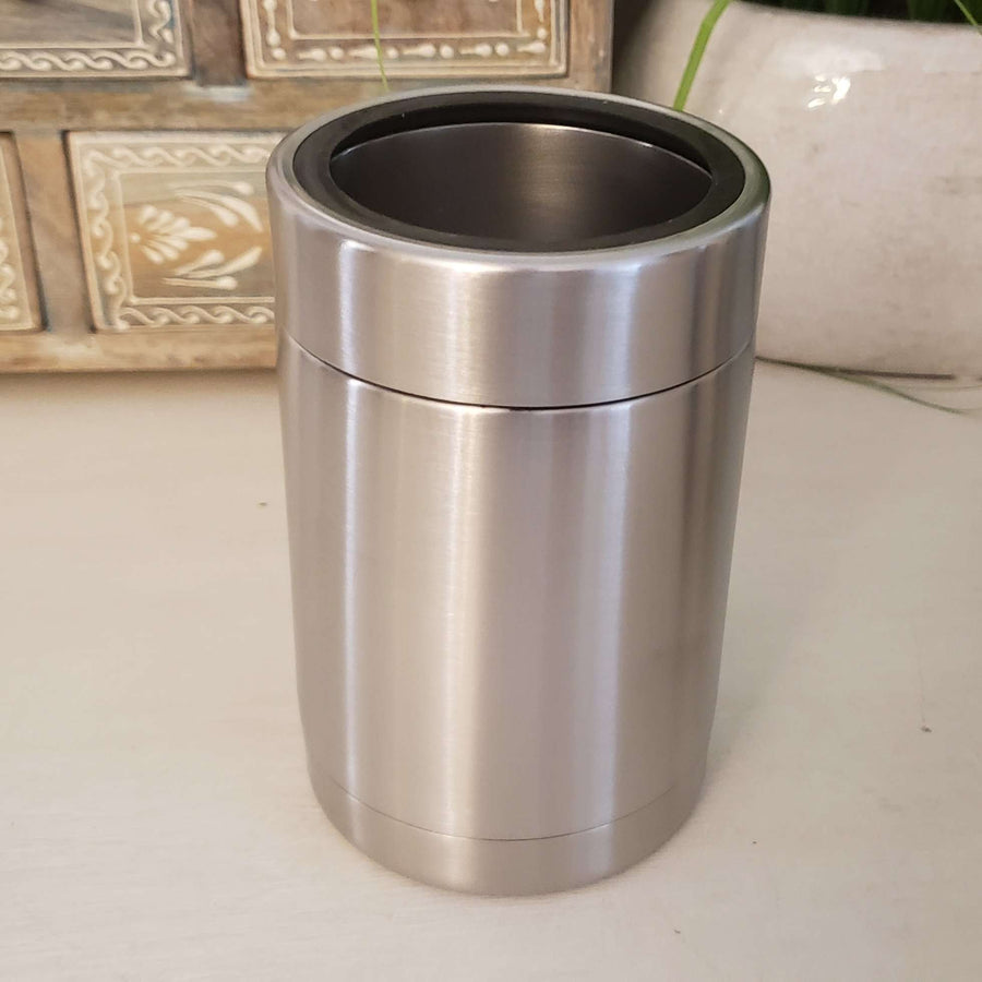 12oz Stainless Steel Can/Bottle Cooler with Stainless Steel Ring
