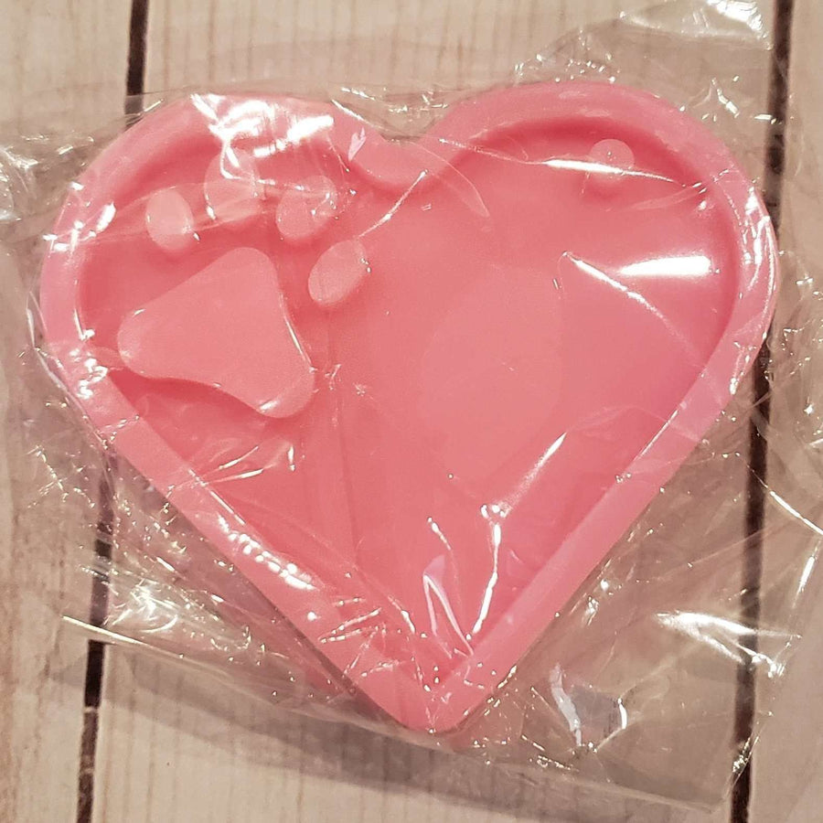 Heart Paw Print Key Chain Mold