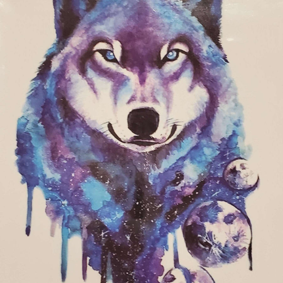"Wolf Medium Tattoo - 8129- 7.5""x 4.75"""