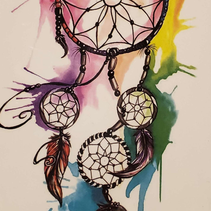 "Dream Catcher Medium Tattoo - 43- 7.25""x 4"""