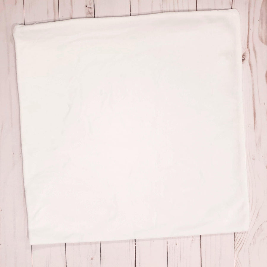 Plush White Pillow Case
