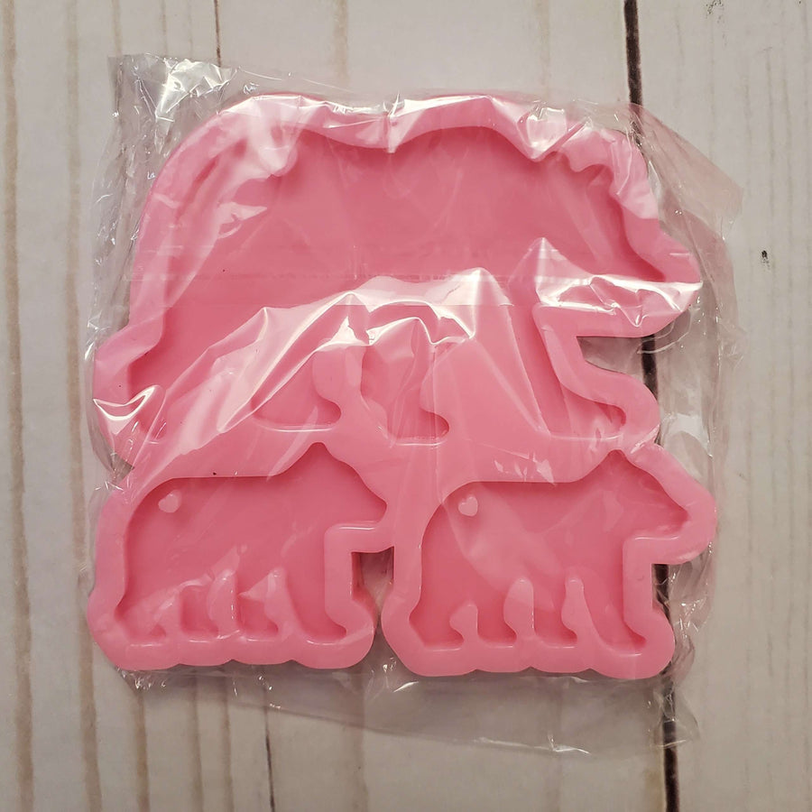 Bear Family Key Chain Mold