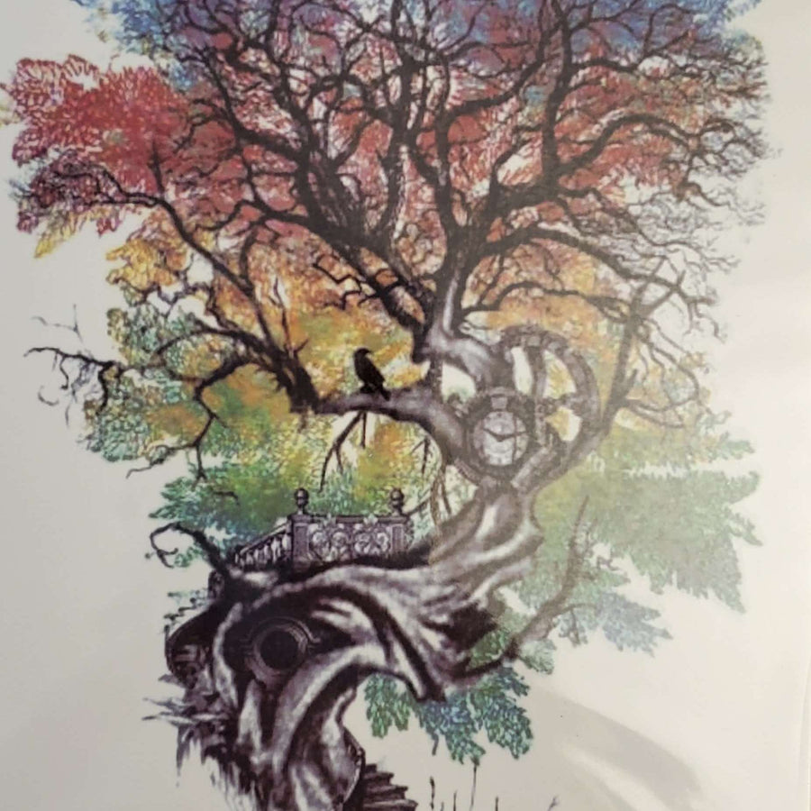 "Staircase Tree- Medium Tattoo - 100 - 8.25""x 4"""