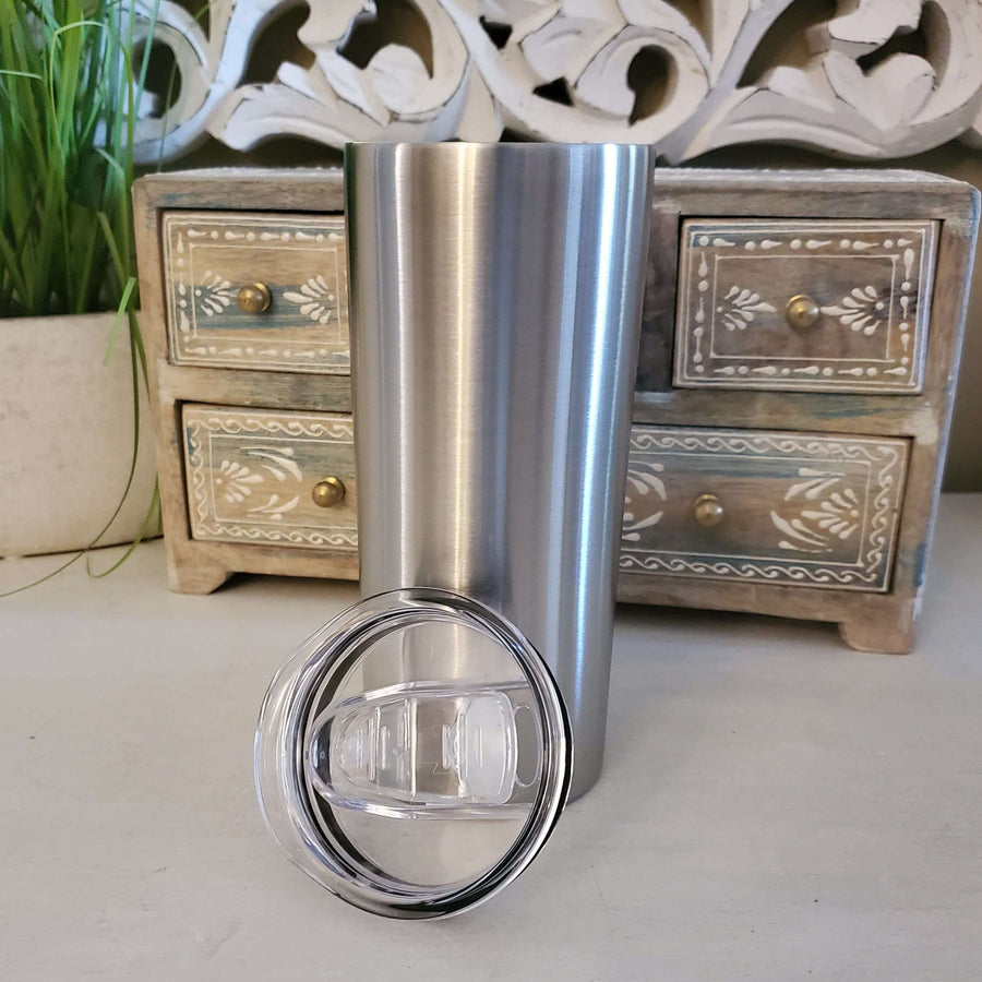Skinny 15oz Stainless Tumbler <p>- STRAW NOT INCLUDED