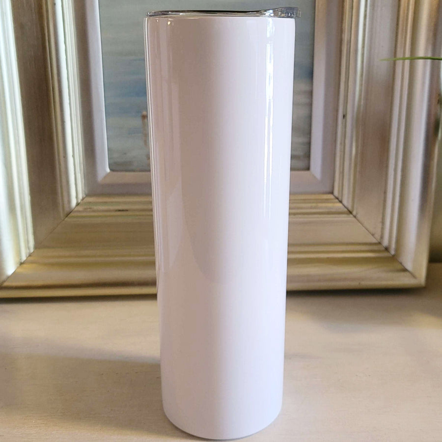 Skinny 30oz Straight Sublimation White Tumbler  <p>- STRAW NOT INCLUDED