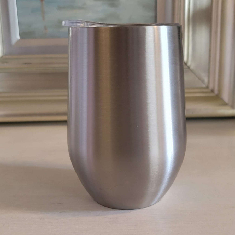 15oz Stainless Wine Tumbler <p>- STRAW NOT INCLUDED