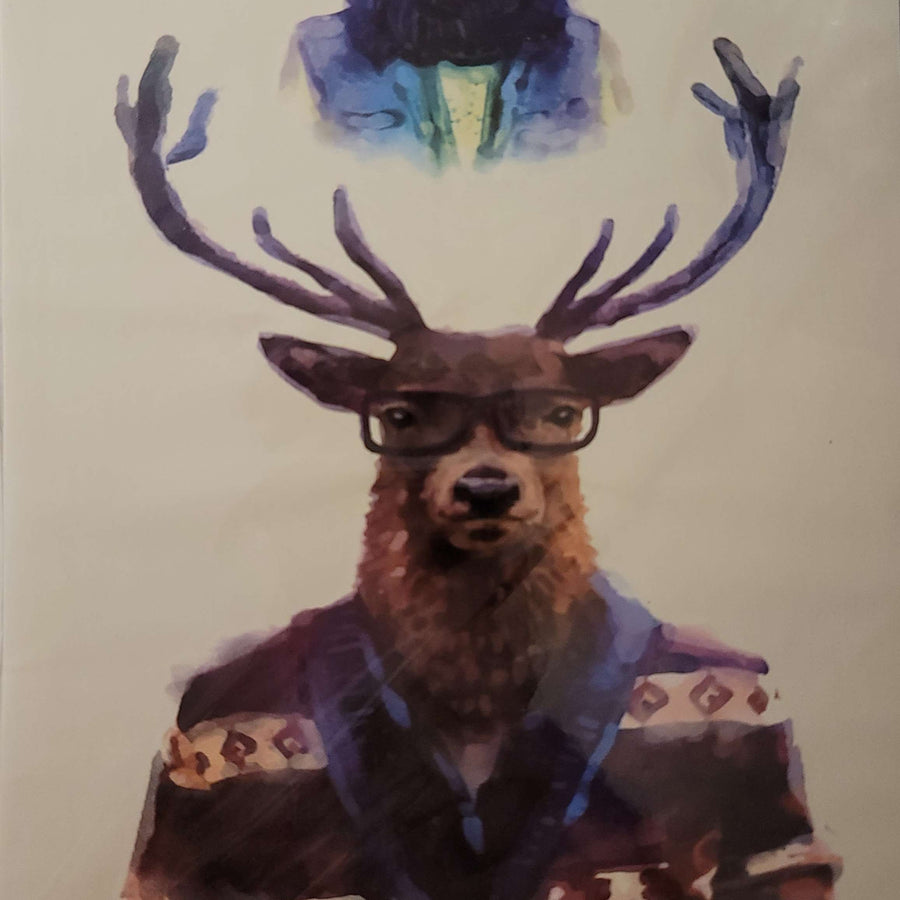 "Elk man- 177 - 8""x 6"" Temporary Tattoo"