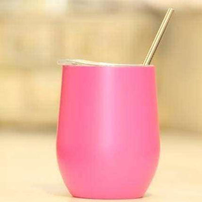 Hot Pink 12 oz Wine Tumbler (copper lined)