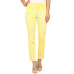 NYDJ Not Your Daughters Jeans Clarissa Lemon Yellow Skinny Ankle Pants