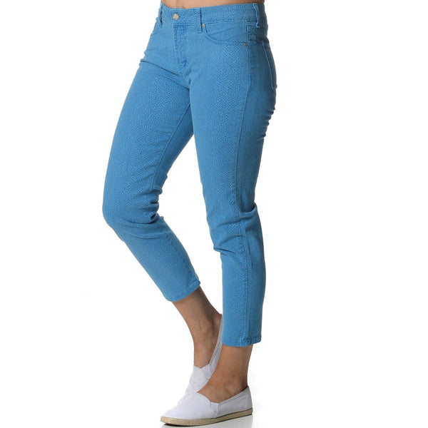 NYDJ Not Your Daughter's Jeans Alisha Lizard Brilliant Blue Ankle Pants