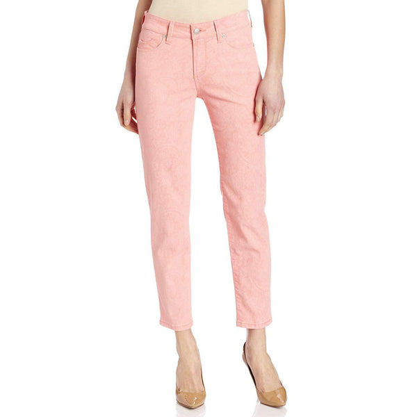 NYDJ Not Your Daughters Jeans Alisha Sherbert Marigold Ankle Fitted Pants