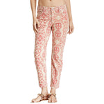 NYDJ Not Your Daughters Jeans Alisha Red Stone Tribal Tiki Ankle Pants