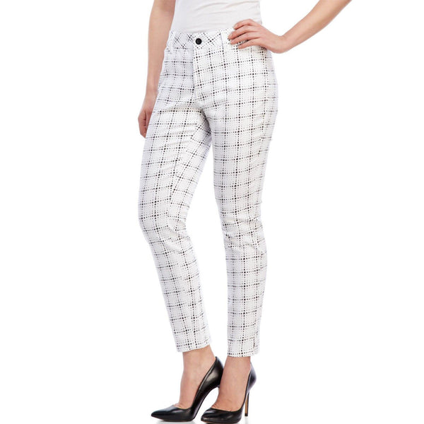 NYDJ Not Your Daughters Jeans Celia Ankle Trouser Polka Dot White Pants