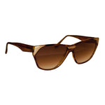 Vintage Solargenics Brown Tortoise Pattern Sunglasses With Matte Gold Accents