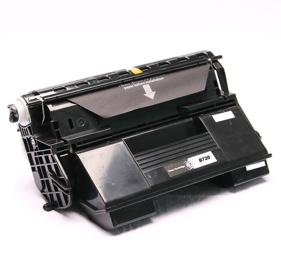 PSO-B720 Remanufactured Mono Laser Toner Cartridge, Replacement for OKI B720N, 52123602, 01279101