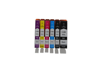 KC-PGI280XXL & CLI281XXL BK/BK/C/M/Y/PB Premium Compatible Ink Cartridge SET. Replacement for Canon PIXMA TS6120, TS6220, TS702, TS8120, TS8220, TS9120, TS9520, TR7520, TR8520