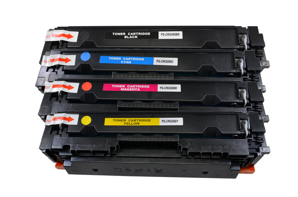 CRG055 Compatible High Yield Color Toner Cartridge Set *NO CHIP*