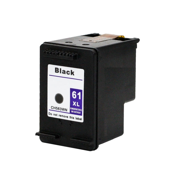CH563WN, HP 61XL Black #140 Remanufactured Ink Cartridge