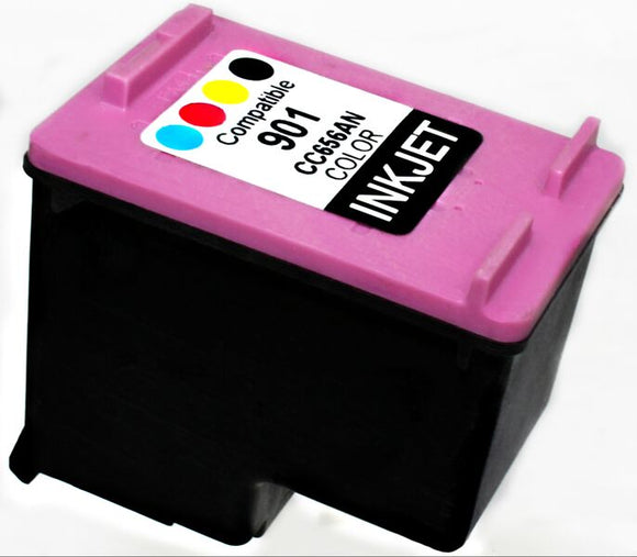 CC656AN, HP 901 Tri-Color Remanufactured Inkjet Cartridge