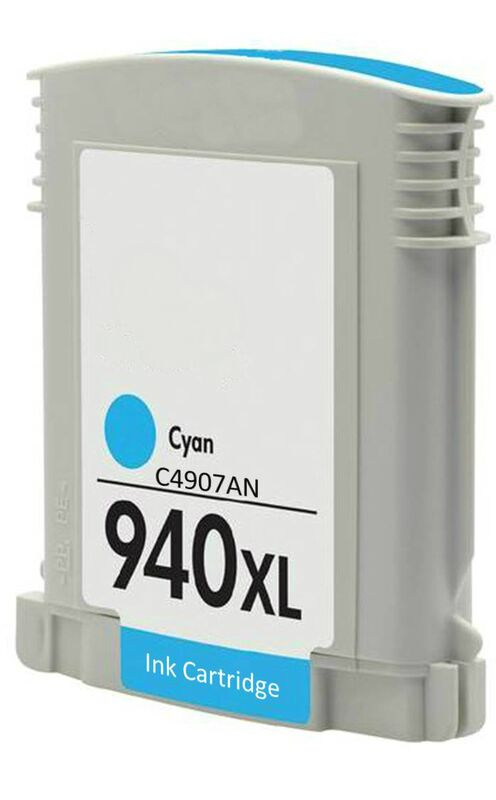 C4907AN, HP 940XL Cyan Remanufactured HY Inkjet Cartridge