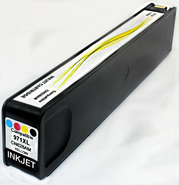 CN628AM, HP 971XL Yellow Remanufactured HY Inkjet Cartridge
