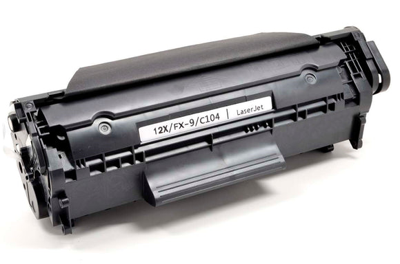 Q2612X, 12X Compatible High Yield Black Toner Cartridge