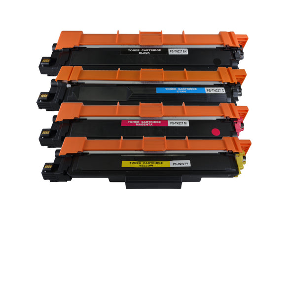 TN227 Compatible Toner Cartridge Set (4 Pack)