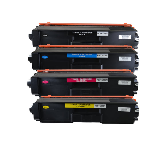 TN339 Compatible Toner Cartridge Set (4 Pack)