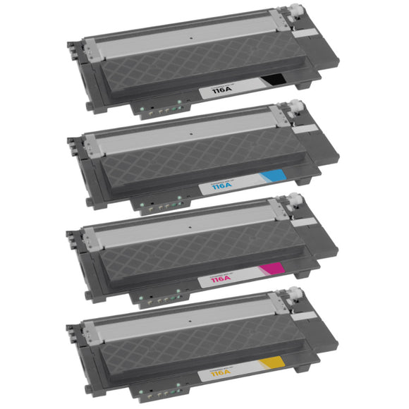 W2060A/116A BK/C/M/Y Premium Comaptible Color Laser Toner SET. **No Chip**  Replacement for W2060A to W2063A, HP 116A