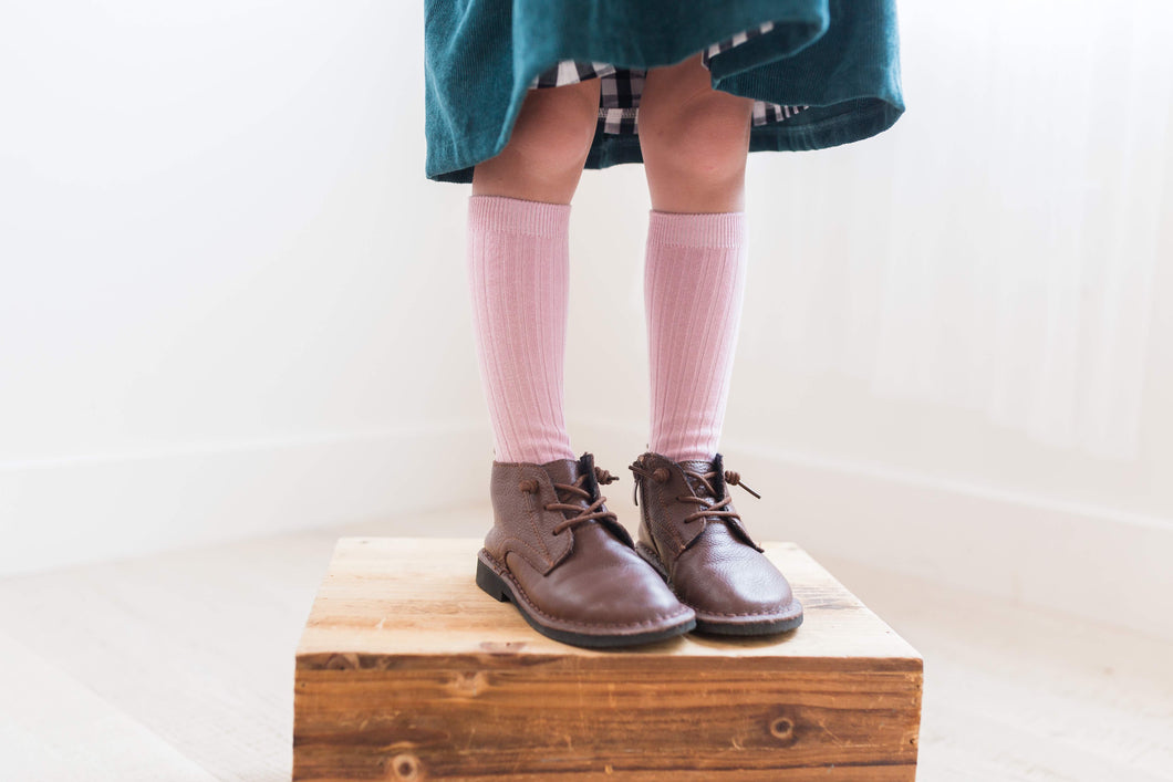 Blush Knee Socks