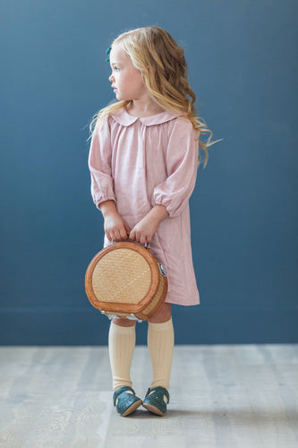 Mabel Shirt Dress in Blush