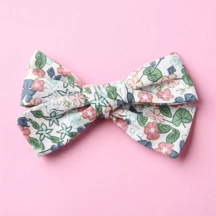 Pastel Flowered Bow