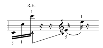 Fur elise music sheet, bar 13 in the bass clef.  Photo credit: the complete classical piano course.
